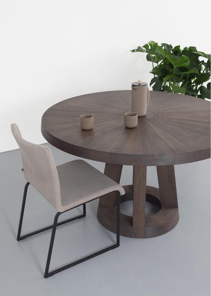 Solid tafel Ø 130cm Charcoal