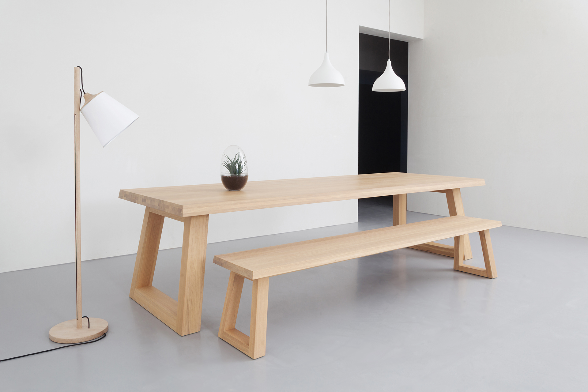 Houten Bank Keukentafel.Design Eettafel Slide L Remy Meijers L Odesi Your Dutch Design
