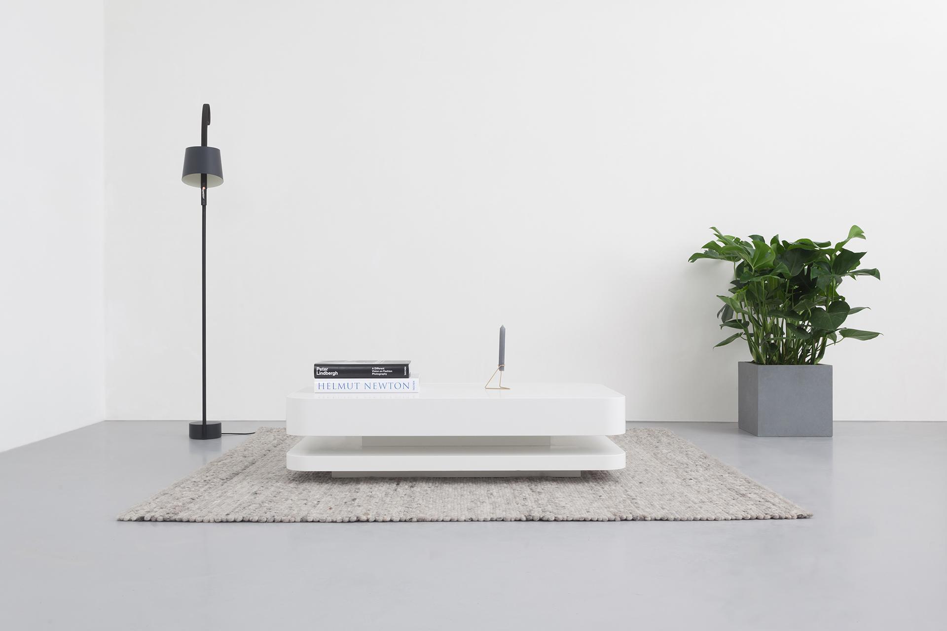 Design salontafel hoogglans wit rknl20 door ronald knol - Fabriquer un meuble d entree ...