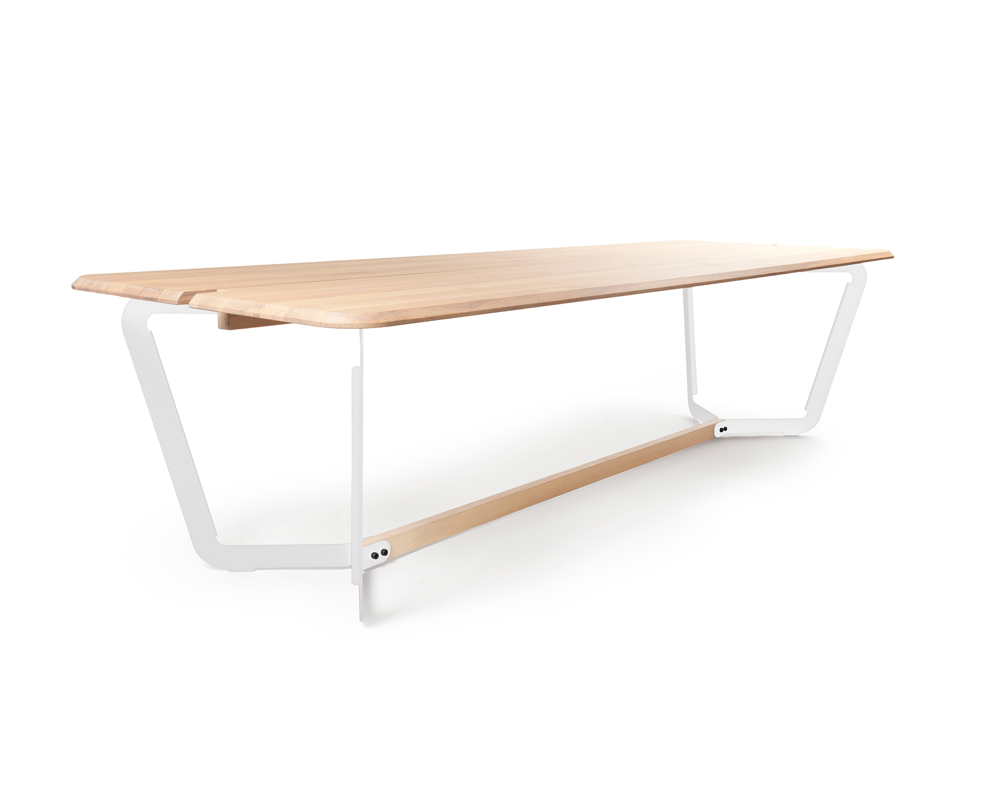 Eettafel Hout Wit Onderstel.Design Eettafel Stringer L Bas Vellekoop L Odesi Your Dutch Design
