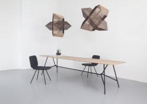 eettafel hout design Peter van de Water