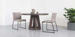 Eettafel rond hout Remy Meijers